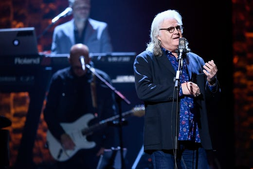 Ricky Skaggs performs during the 35 Years of Friends: Celebrating the Music of Michael W. Smith concert at Bridgestone Arena in Nashville, Tenn., Tuesday, April 30, 2019.