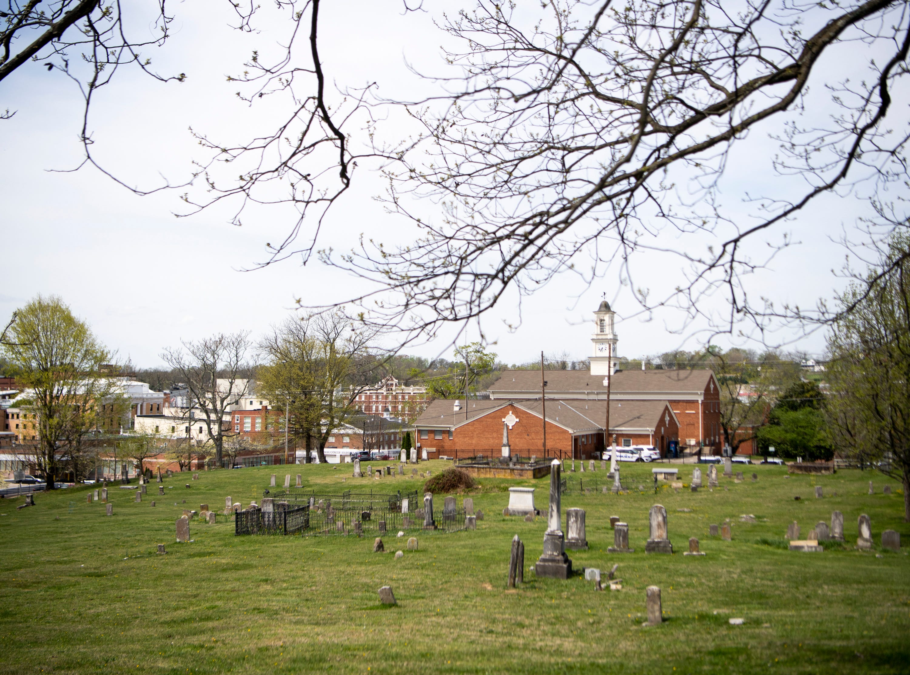 Greeneville, Tenn. pictured from a cemetery on Thursday, April 11, 2019.