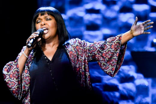 CeCe Winans performs during the 35 Years of Friends: Celebrating the Music of Michael W. Smith concert at Bridgestone Arena in Nashville, Tenn., Tuesday, April 30, 2019.