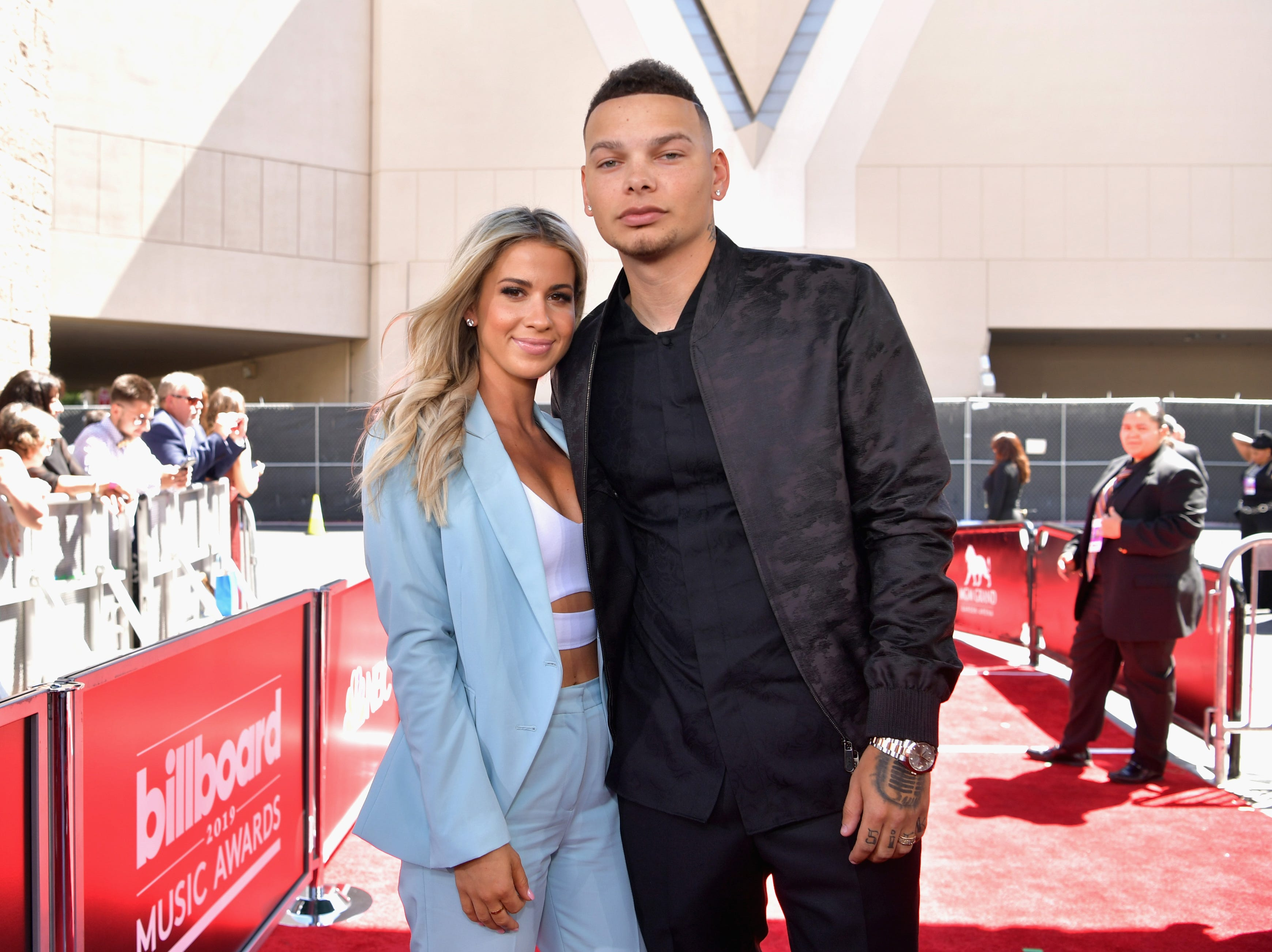 (L-R) Katelyn Jae and Kane Brown attend the 2019 Billboard Music Awards at MGM Grand Garden Arena on May 1, 2019 in Las Vegas, Nevada.