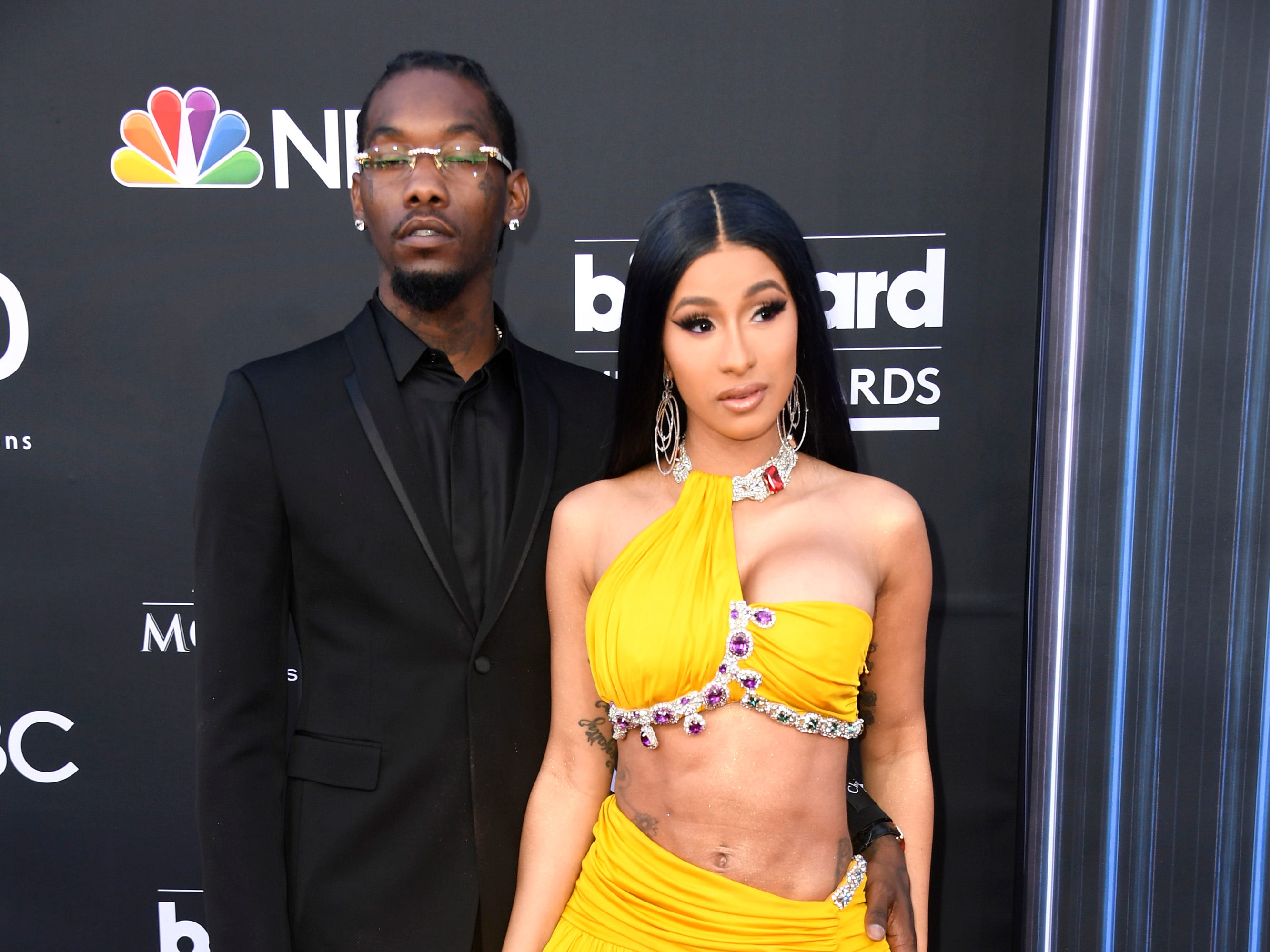 Offset of Migos and Cardi B attend the 2019 Billboard Music Awards at MGM Grand Garden Arena on May 01, 2019 in Las Vegas, Nevada.