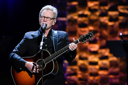 "Steven Curtis Chapman performs during the ""35 Years of Friends: Celebrating the Music of Michael W. Smith"" concert at Bridgestone Arena in Nashville on April 30, 2019."