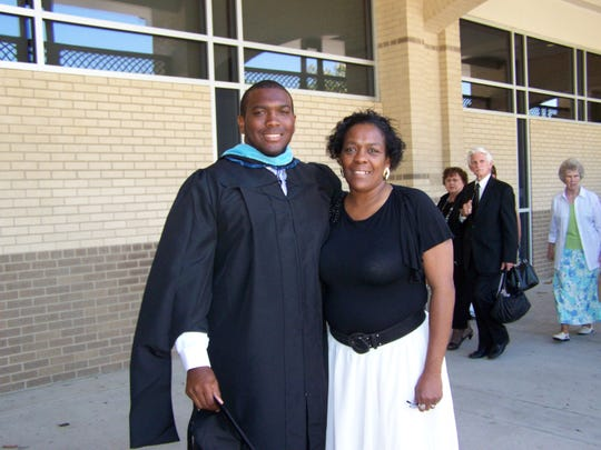 A 2010 picture of Devin DeLaughter and his mother, Angela DeLaughter, when he earned one of his two master's degrees at Covenant College, Lookout Mountain, Ga. It was his mother's only time to attend one of DeLaughter's graduation ceremonies.