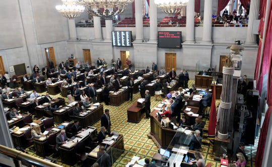 House members discuss admendments and bills during session in Nashville on Wednesday, May 1, 2019.