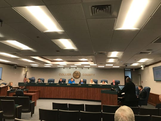 Collier's infrastructure surtax citizens oversight committee hears a presentation about a proposed Collier County Sheriff's Office forensic and evidence building, Wednesday, May 1, 2019, at the county commission chambers.