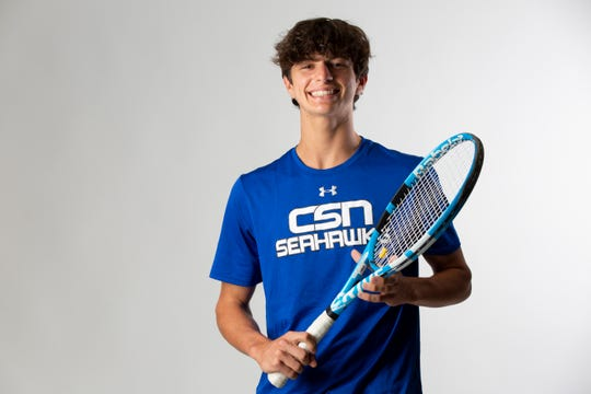 Sebastian Dounchis, Community School of Naples, Tennis, Sophomore