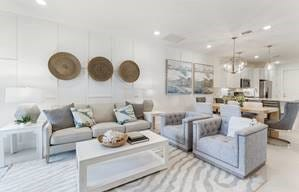 The Seagrove design offers 1,440+ square feet, two bedrooms, and a flex room that can be personalized as a home office or guest room.
