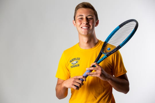 Michael Moll, Naples High School, Tennis, Senior