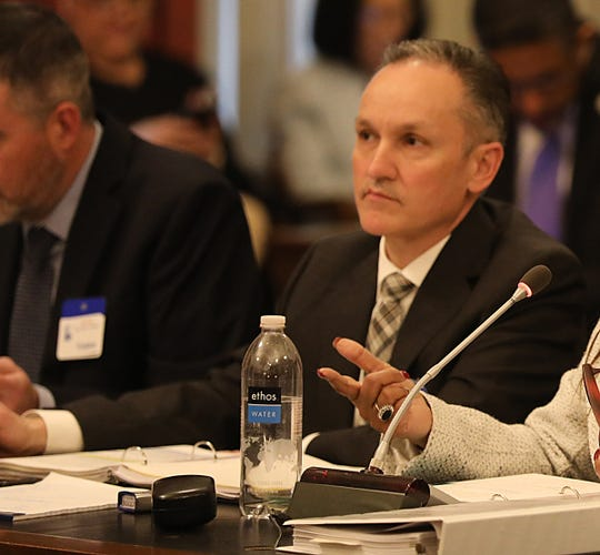 Manuel Da Silva, shown here at an April 2019 budget hearing, was named to replace Lizette Delgado-Polanco as the Schools Development Authority's interim CEO.