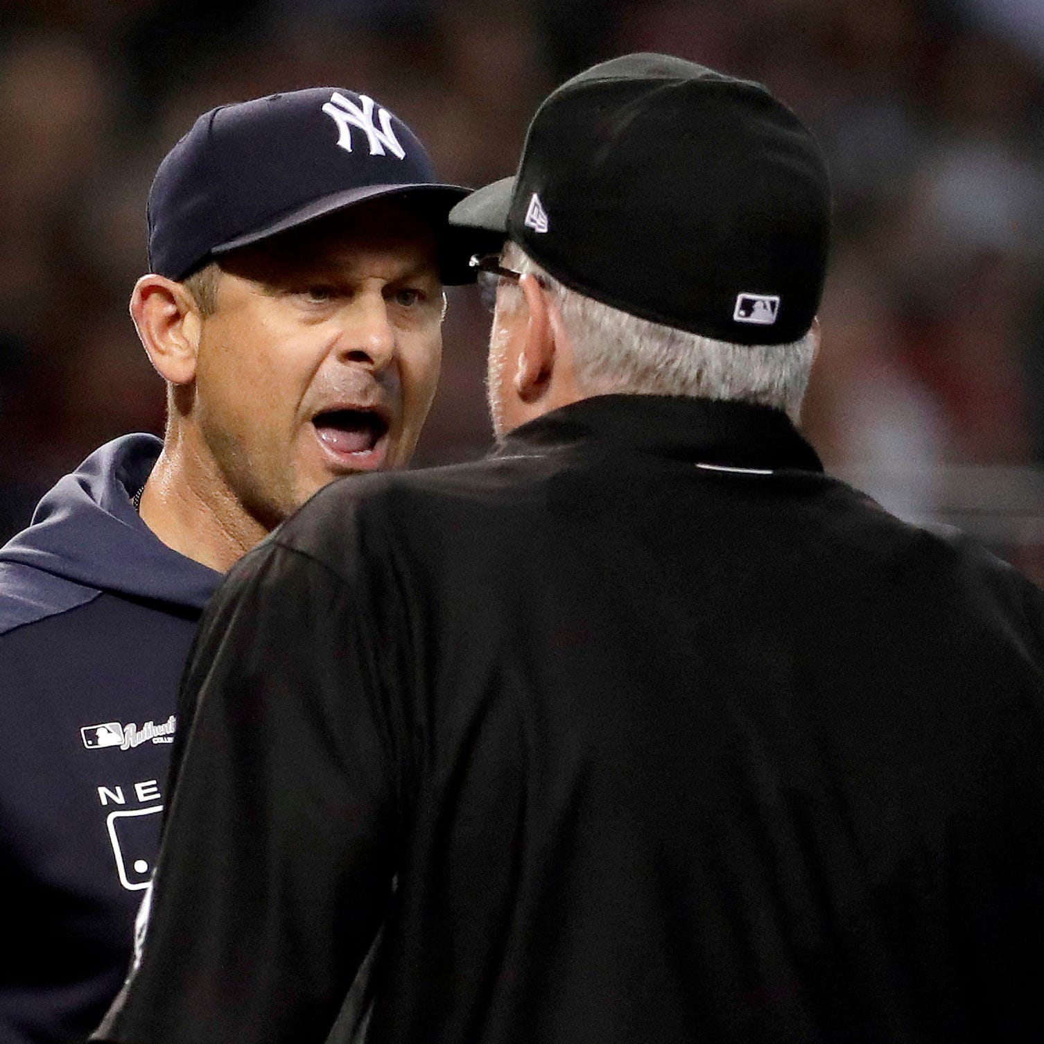 Aaron Boone ejected from New York Yankees game against Arizona Diamondbacks