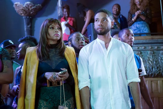 """This photo provided by Fox shows, Taraji P. Henson, left, as Cookie Lyon and Jussie Smollett as Jamal Lyon in the """"My Bad Parts"""" episode of the television series, """"Empire.""""  Fox Entertainment says Smollett will not return to its series """"Empire"""" in the wake of allegations by Chicago officials that the actor lied about a racially motivated attack. The studio released a statement Tuesday, April 30, saying """"there are no plans for Smollett's character of Jamal to return to 'Empire.'"""" No reason was given."""