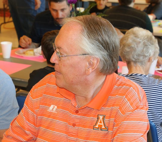 Artesia Mayor Raye Miller attended the 108th May Day Breakfast at First Evangelical Presbyterian Church May 1.