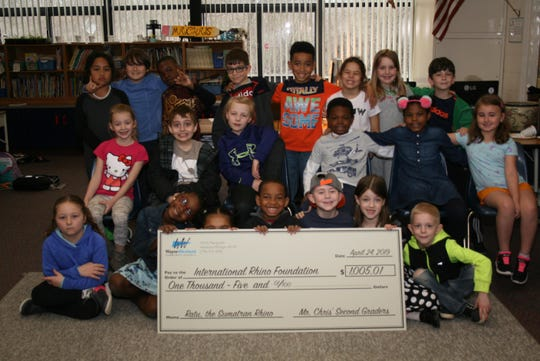 Students at Walker-Winter Elementary School have adopted a rhino in Africa.