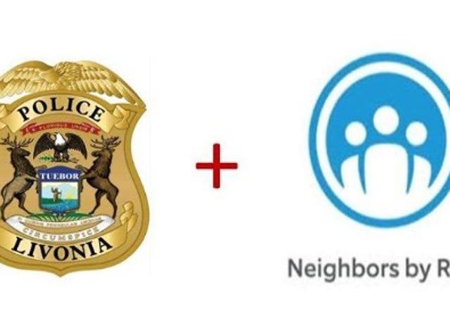 Livonia Police using Neighbors by Ring app