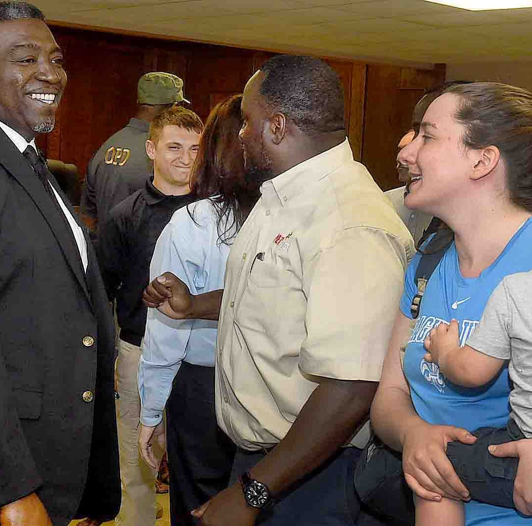 Opelousas Police Department meet and greet brings community, law enforcement together
