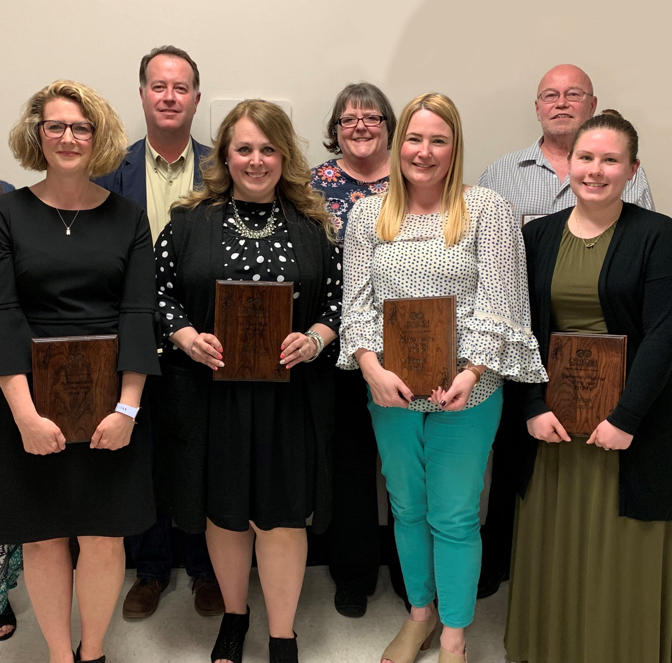 Oshkosh Area School District honors eight 2019 Employees of the Year