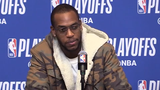Bucks guard Khris Middleton discusses the team's mindset heading into their first road game of the series in Boston.