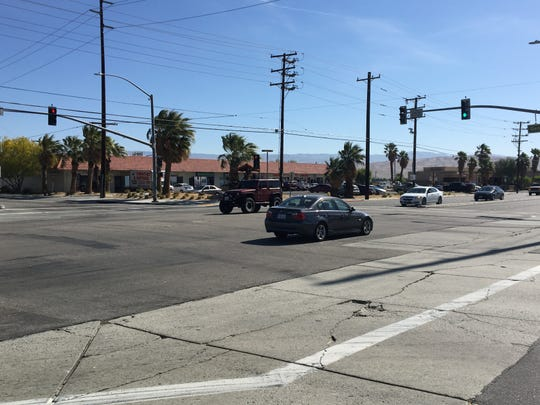 This photo shows the intersection of Gene Autry Trail and Vista Chino in Palm Springs. Road work is expected to cause major delays beginning May 6.