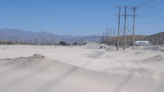 Strong winds have blown sand onto Indian Canyon Drive in Palm Springs numerous times in the past few months. It's an issue at least two candidates in District 1 have addressed.