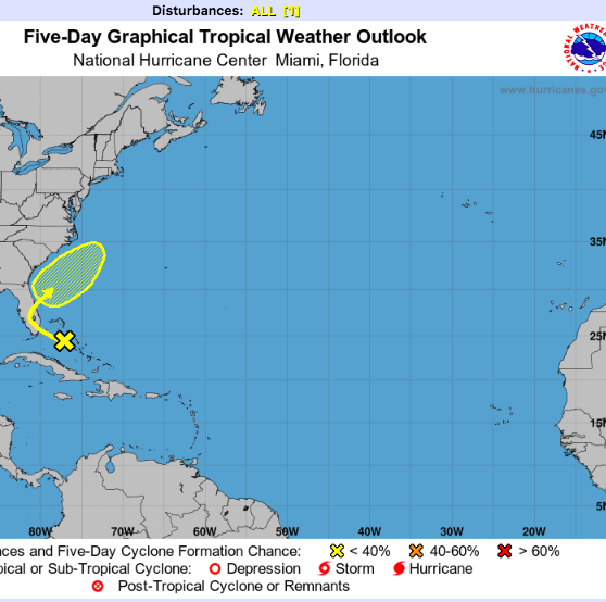 National Hurricane Center tracks first disturbance of 2019, one month before hurricane season