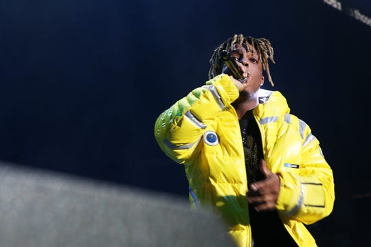 Juice Wrld performs at Power 105.1's Powerhouse 2018 at Prudential Center on October 28, 2018 in Newark, New Jersey.