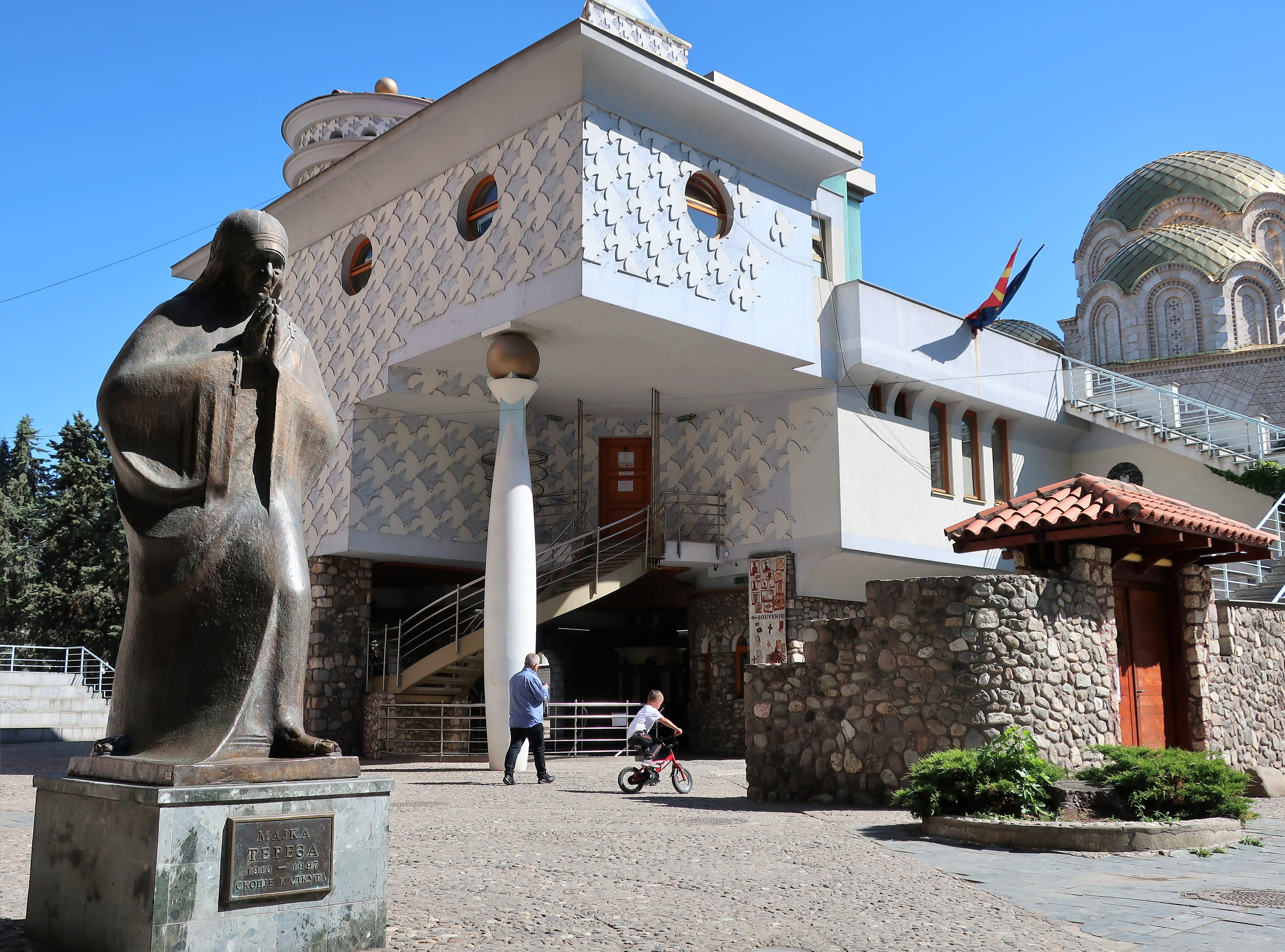 The Memorial House of Mother Teresa, a Skopje native and Catholic nun who was baptized here in 1910.