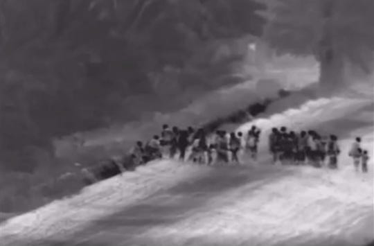 Border Patrol officials in Yuma released a video of 111 Central American migrants crossing largely unimpeded near the Colorado River, which delineates the U.S.-Mexico border.