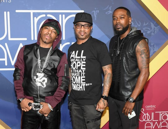 Sisqo, Nokio the N-Tity and Antwuan 'Tao' Simpson of Dru Hill attend the 2016 Soul Train Music Awards at the Orleans Arena on November 6, 2016 in Las Vegas.