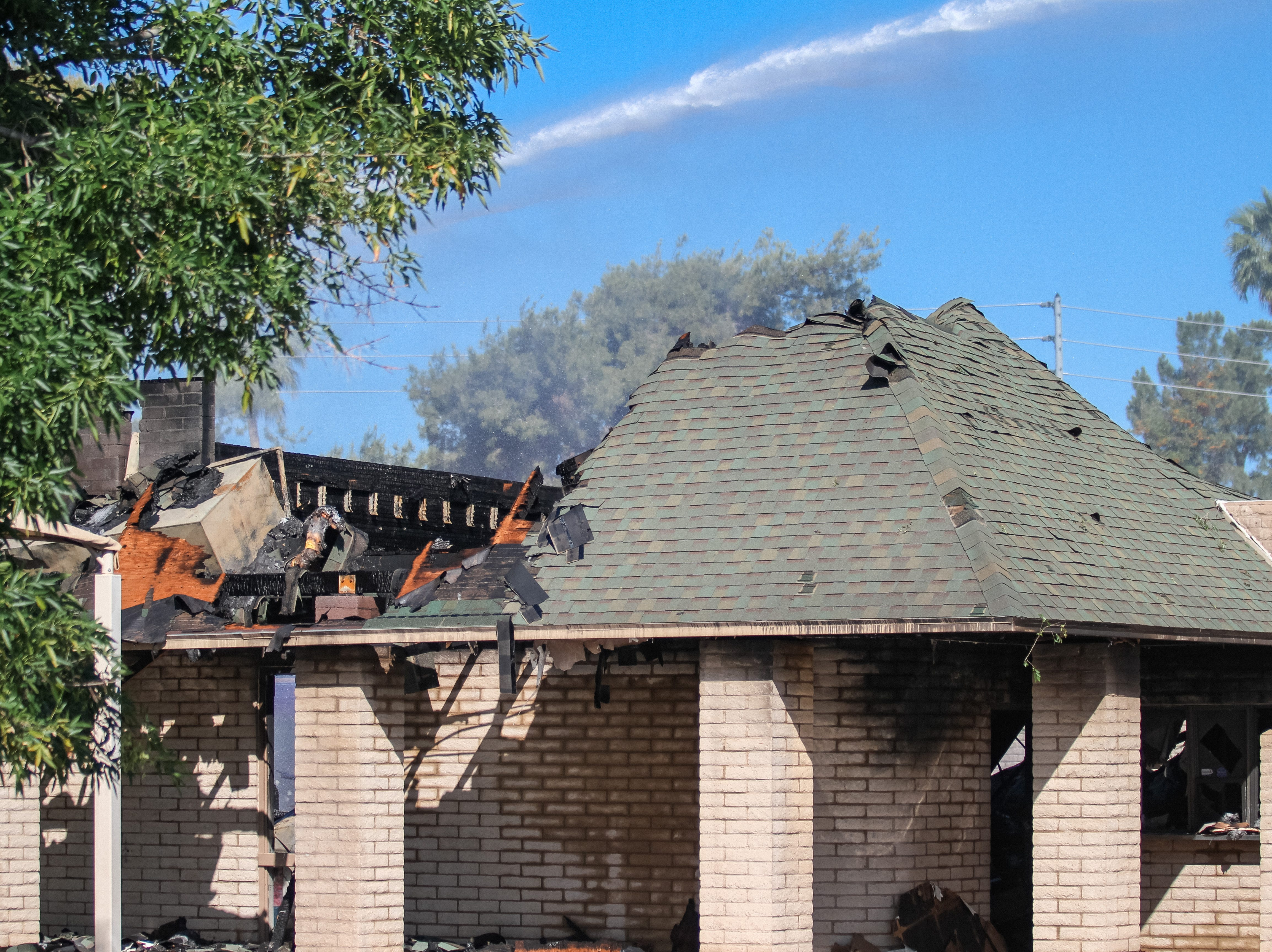 The Phoenix Fire Department works to extinguish St. Joseph Catholic Church in Phoenix after the building caught fire on May 1, 2019.