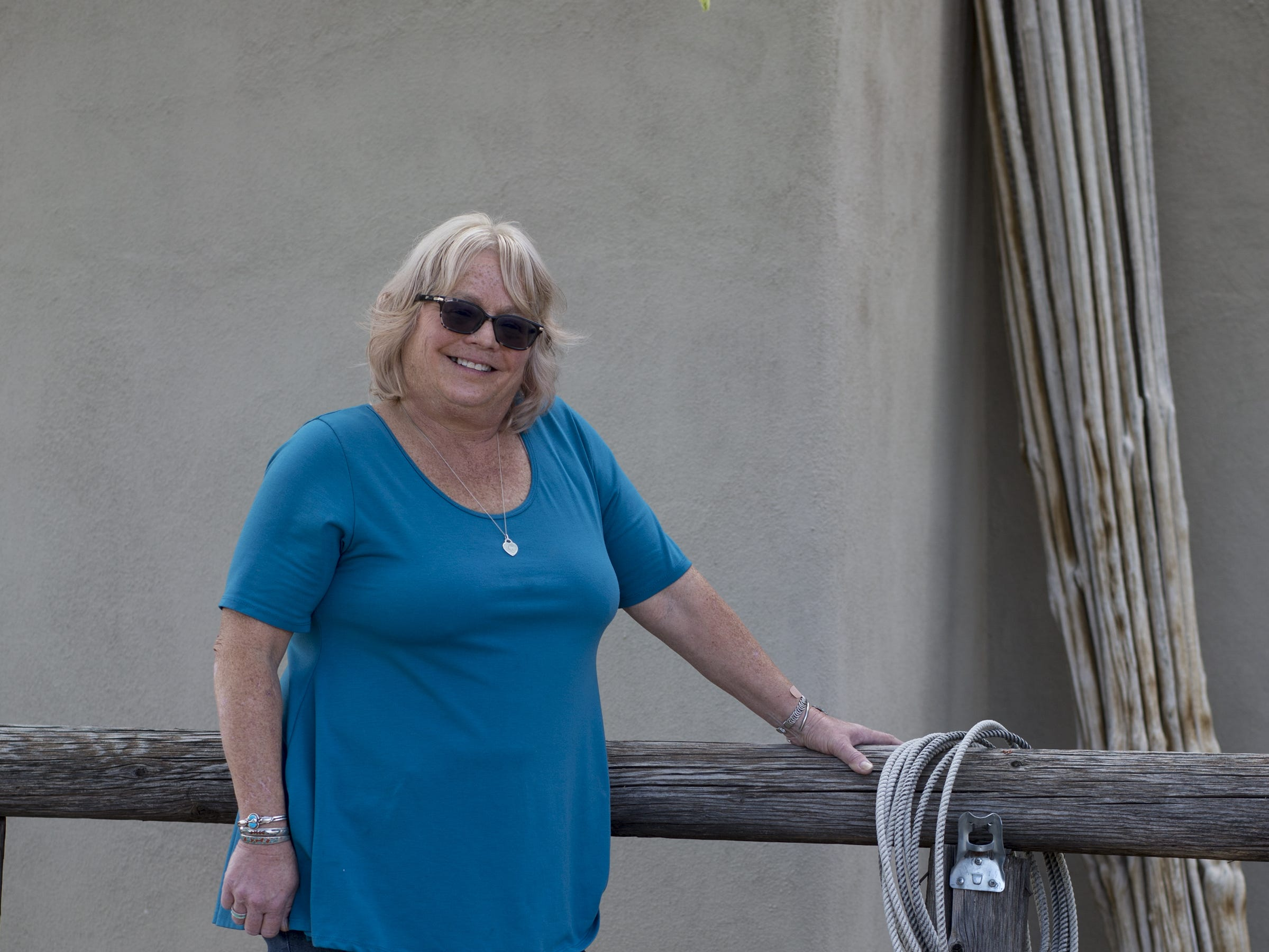 A portrait of Mary Gevarter, April 23, 2019, at her home in New River.