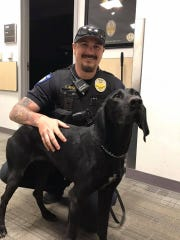 ASU Police Officer Colton Adams and Nala
