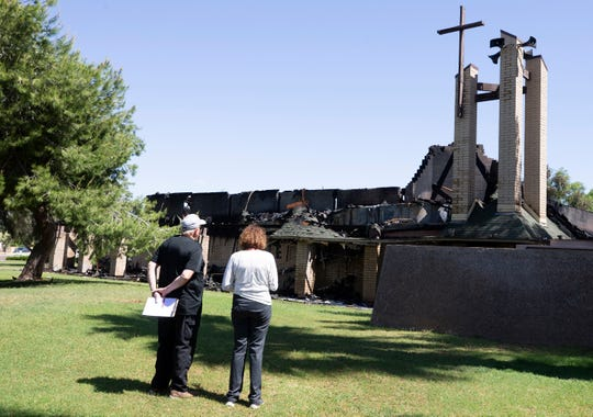 A fire destroyed most of St. Joseph Catholic Church in Phoenix on May 1, 2019.