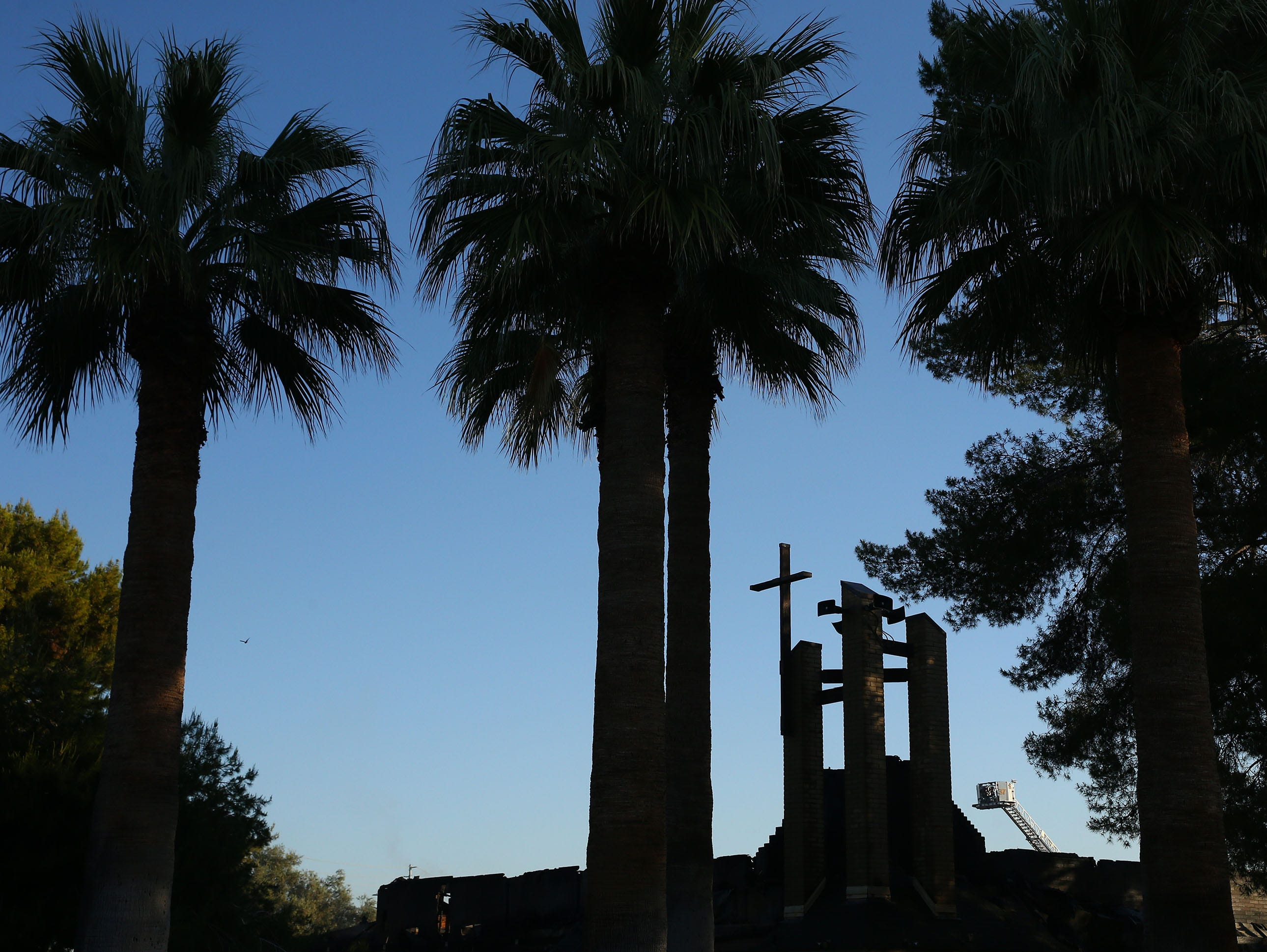 Overnight a fire engulfed St. Joseph Catholic Church on May 1, 2019 near 40th Street and Desert Cove Avenue in Phoenix.
