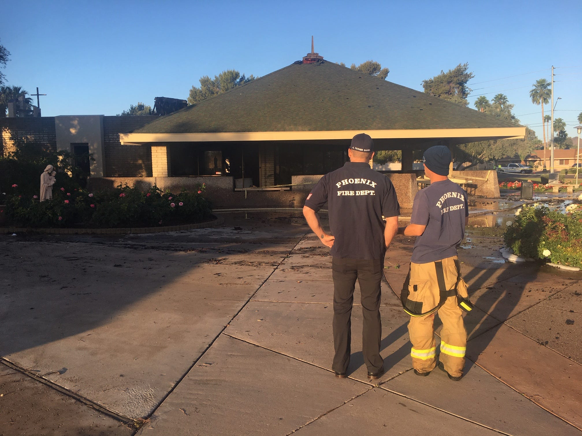 St. Joseph's Catholic Church in northeast Phoenix was damaged in a fire on May 1, 2019.