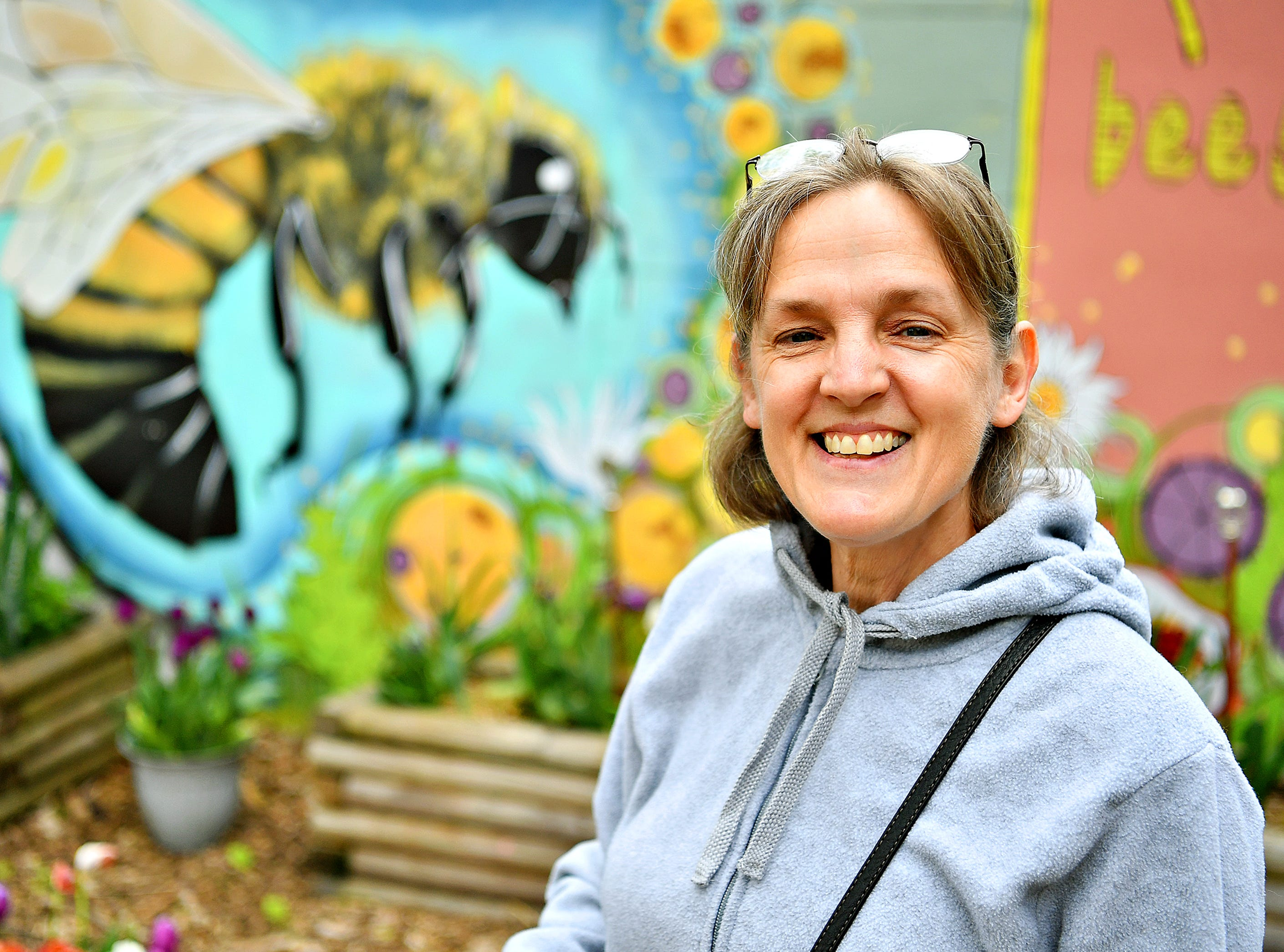 Urban Gardner Annalisa Gojmerac, of Jackson Township, at Royal Square Garden in York City, Wednesday, May 1, 2019. Dawn J. Sagert photo