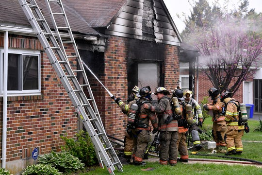 The coroner has been called to the scene of a house fire in the 2200 block of W. Philadelphia Street in West Manchester Township, Wednesday, May 1, 2019. 