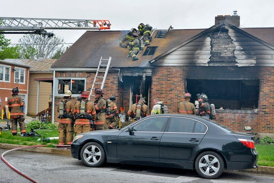 The coroner has been called to the scene of a house fire in the 2200 block of W. Philadelphia Street in West Manchester Township, Wednesday, May 1, 2019. John A. Pavoncello photo