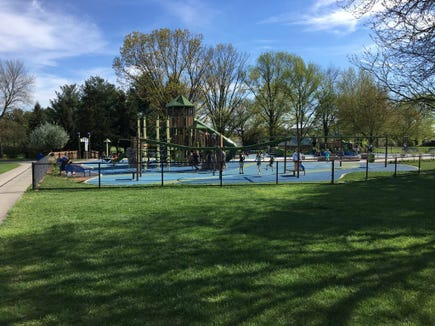 Springettsbury Township's Castle Park playground went up in 2017, an elaborate structure of slides, climbing walls and geometric shapes.