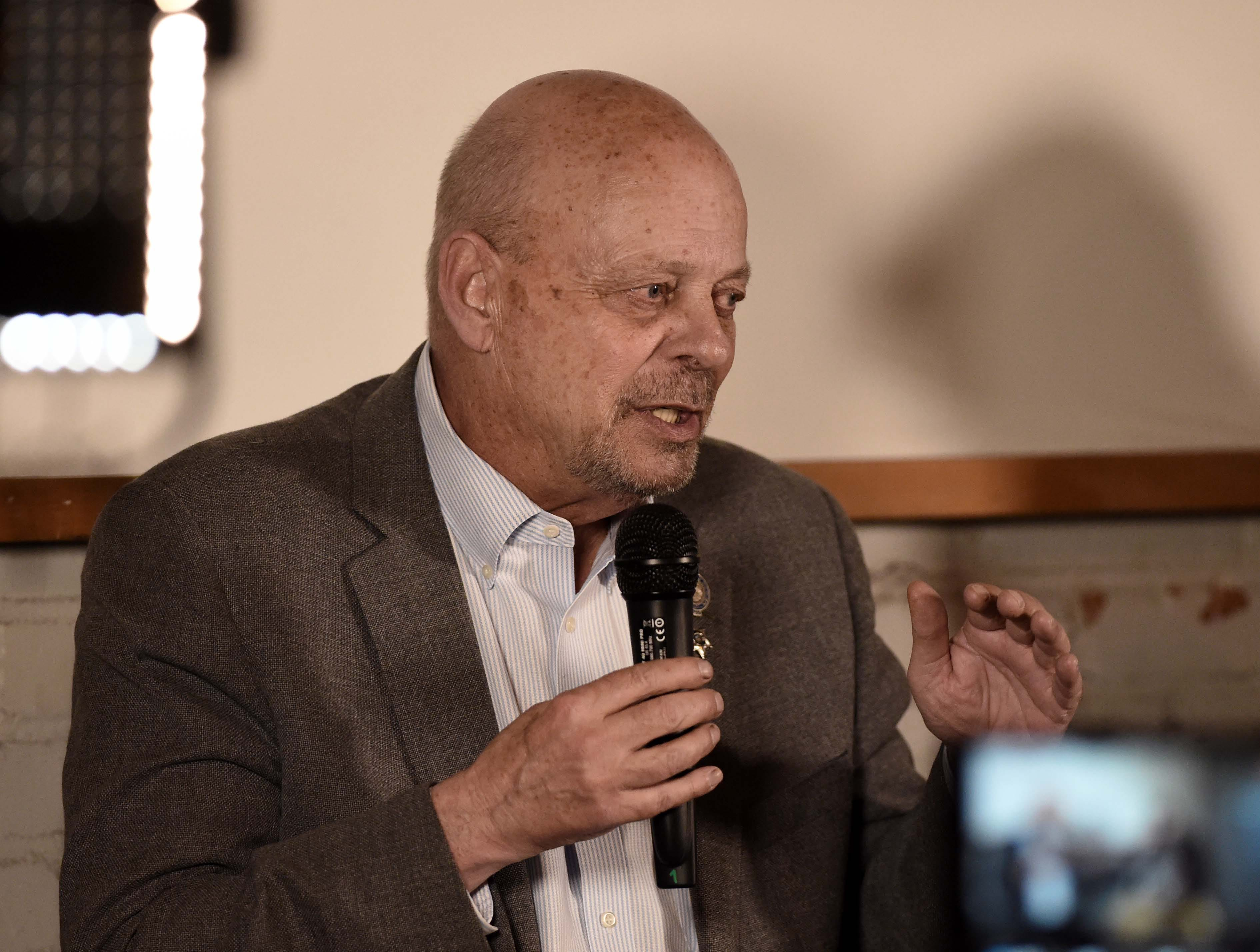 Images from RGJ's monthly Pints and Politics featuring Assembly Speaker Jason Frierson, D-Las Vegas, and Minority Floor Leader Jim Wheeler, R-Minden, hosted by RGJ politics reporter James DeHaven and executive editor Brian Duggan.