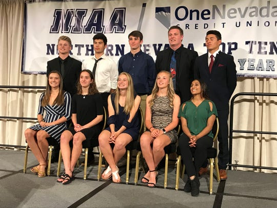 The NIAA Top-10 student-athletes for 2019 were honored at a banquet Tuesday at the Peppermill Resort Casino in Reno.