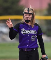 Spanish Springs' Tyra Clary pitches against Wooster on April 30, 2019.