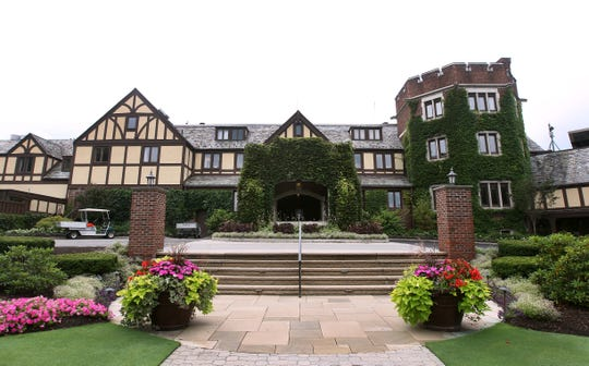 The clubhouse at Oak Hill Country Club, site of the 2019 Senior PGA Championship.