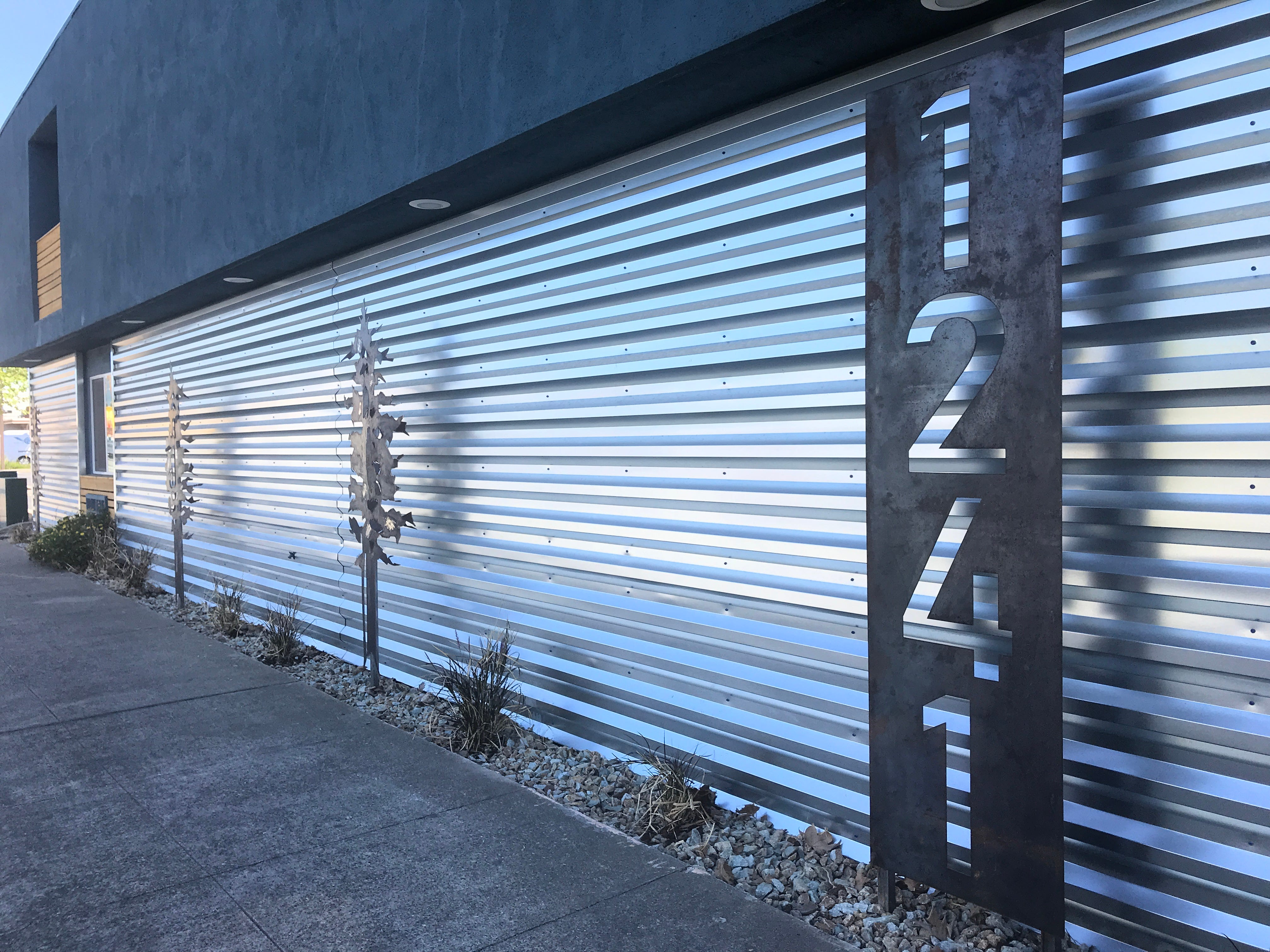 Metal siding now graces the hotel on the Market Street side. Russell Architecture of Redding did the design work.