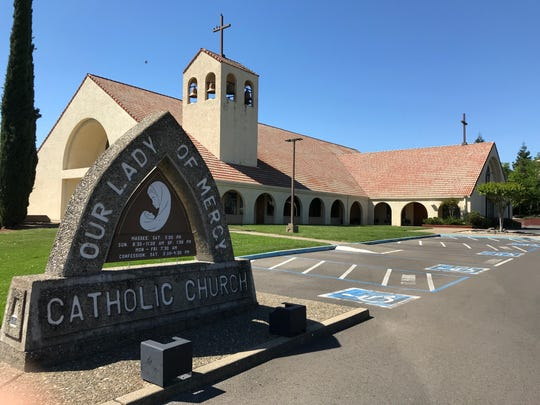 Our Lady of Mercy Catholic Church on Shasta View Drive in Redding