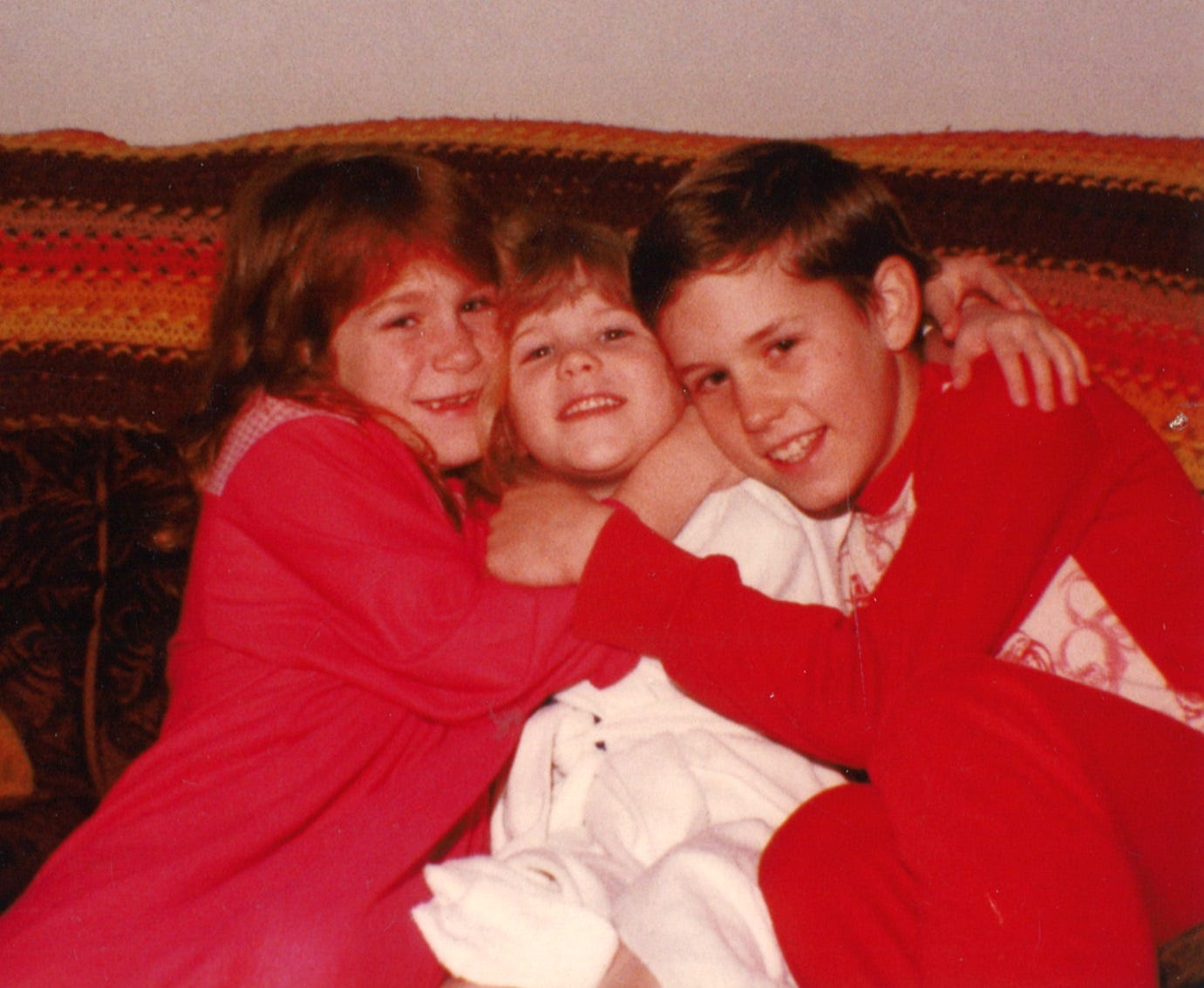 Halverson with younger sisters Tiffeny and Desiree in the early 1980s at their home in Salem.