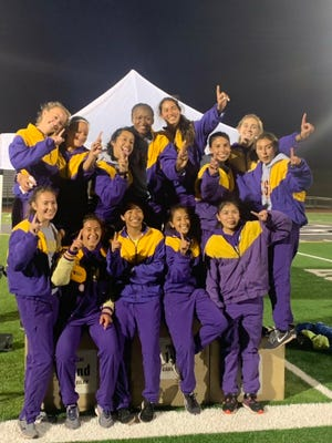 The Salinas girls track and field team won its second Gabilan division title in three years last Friday after finishing last in 2018.