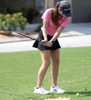 San Angelo Central freshman golfer Ryann Honea is the Lady Cats' first state qualifier on the girls' side since Kamryn Cummings in 2014.