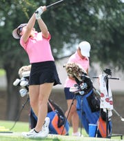 San Angelo Central freshman golfer Ryann Honea goes through practice at Bentwood Country Club Wednesday, May 1, 2019. Honea will be competing at the UIL Class 6A state tournament in Georgetown on May 13-14.