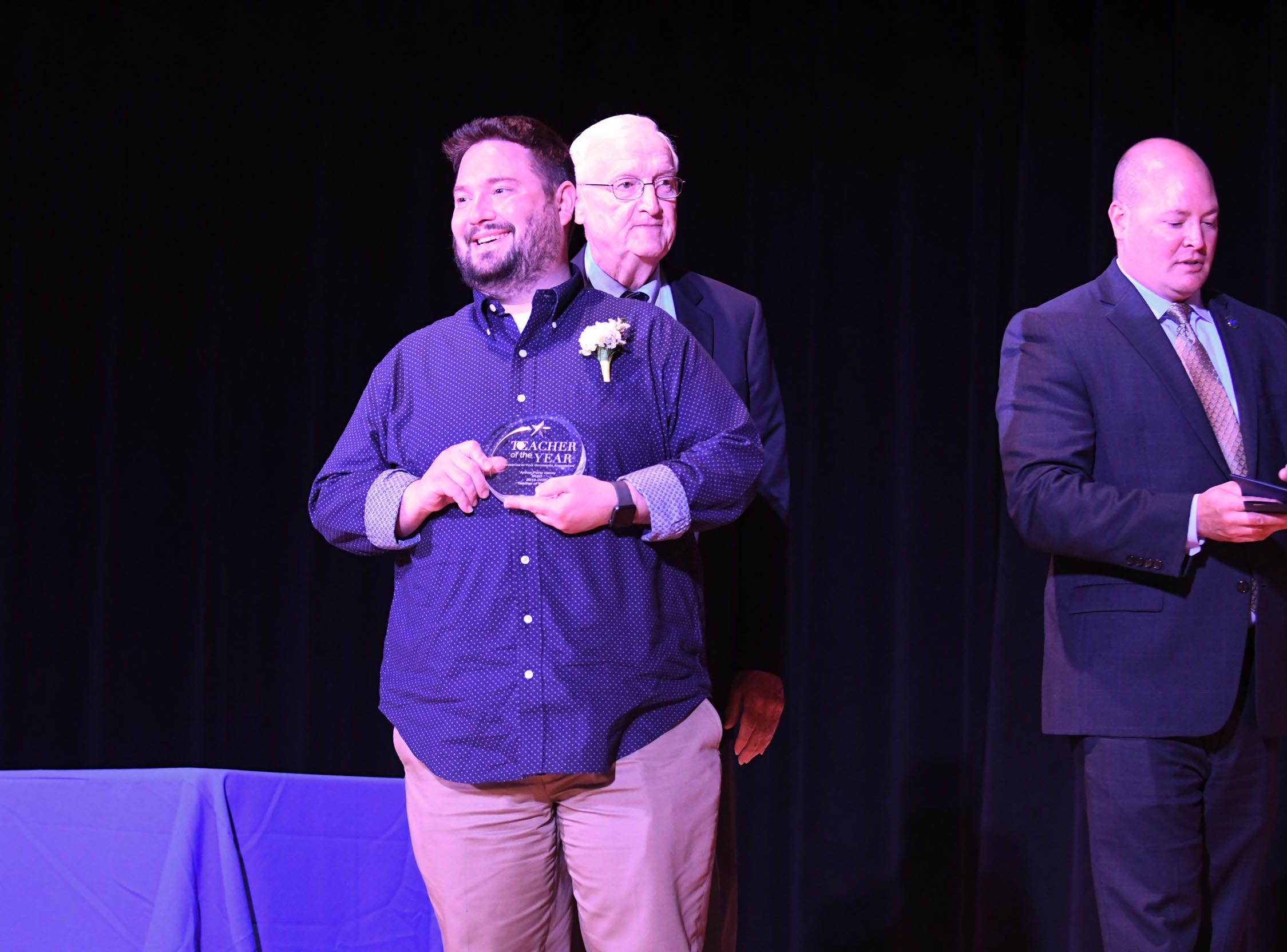 Arthur Henry, Millsboro Middle School- Music Teacher- has been named Indian River School District Teacher of the year on Tuesday, April 29, 2019.