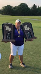 Meredith Duncan, head coach of Byrd's boys and girls golf teams, won a pair of LHSAA titles Tuesday.